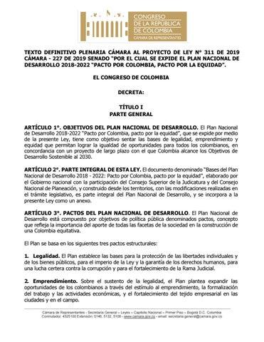 Plan Nacional De Desarrollo 2019 By Estudio Legal Hernandez