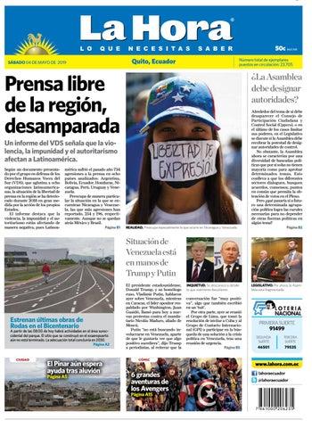 bc4f3ca6040d Quito 04 de mayo de 2019 by Diario La Hora Ecuador - issuu