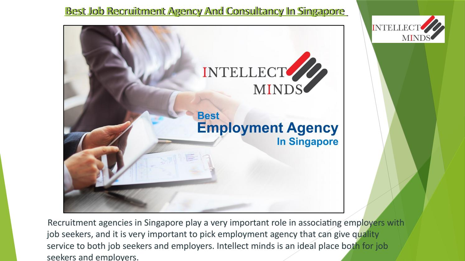 Job Recruitment Agency and Consultancy in Singapore by Intellect