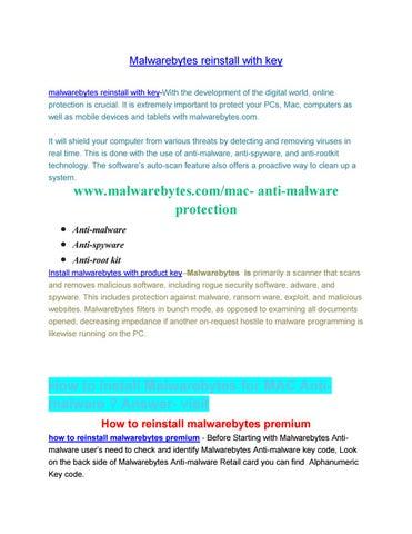 malwarebytes reinstall with key by chrisroger992 - issuu