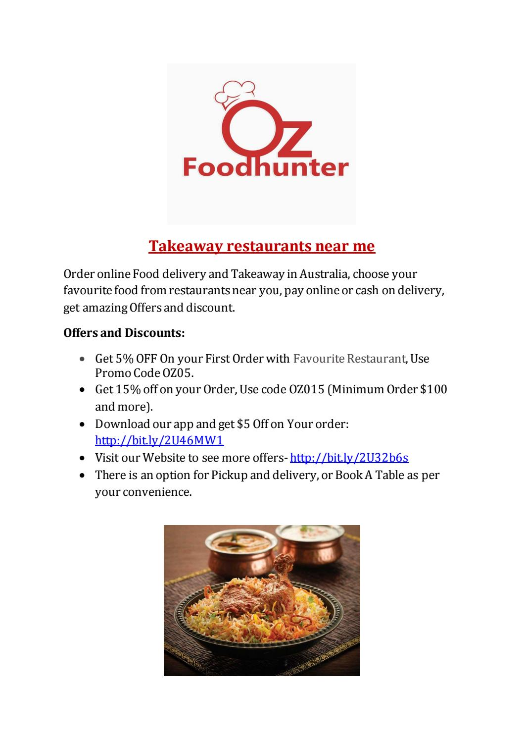 Oz Foodhunter Choose Your Food For Delivery And Takeaway