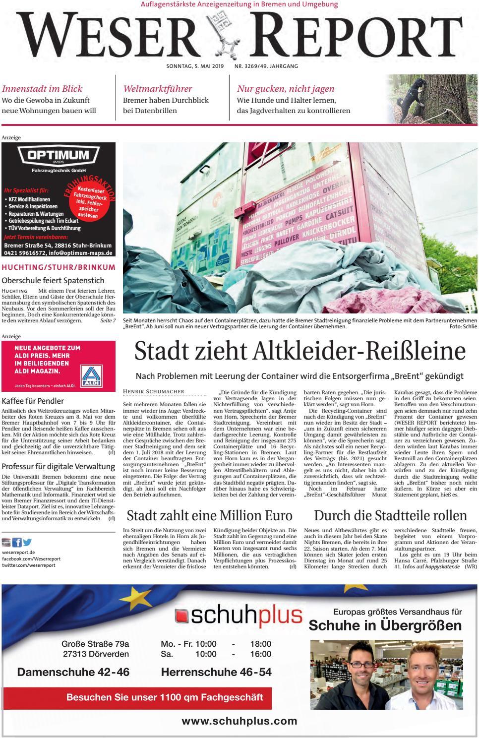 Weser Report Huchting Stuhr Brinkum Vom 05 05 2019 By Kps