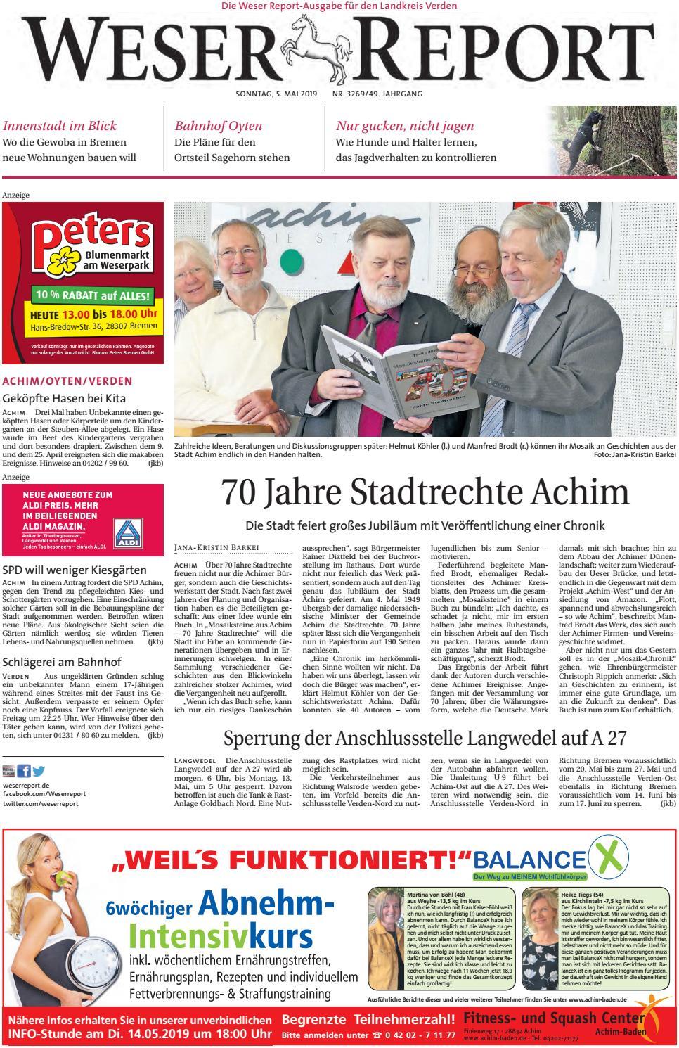 Weser Report Achim Oyten Verden Vom 05 05 2019 By Kps