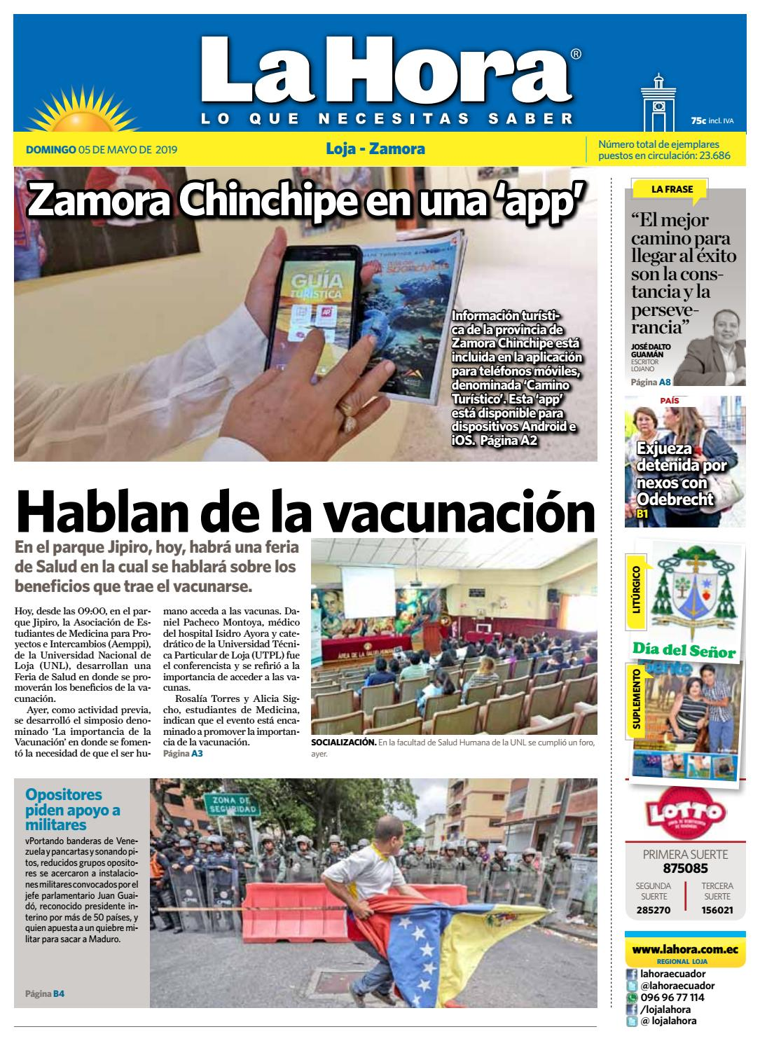 4f9cf9489de5 Diario La Hora Loja 05 de Mayo 2019 by Diario La Hora Ecuador - issuu