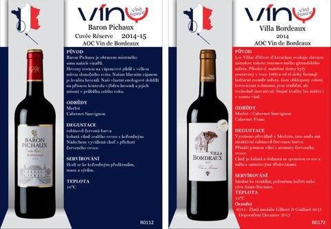 Práca datovania Bordeaux 2015