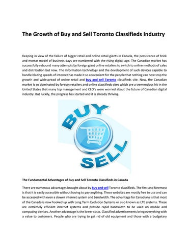 Buy and Sell Toronto by amirshoukat - issuu