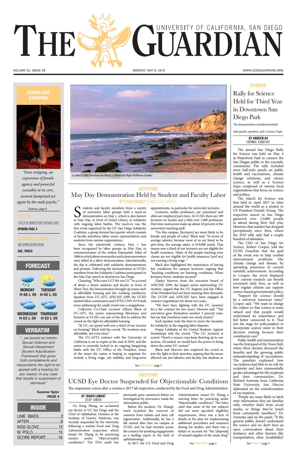 UCSD Guardian 5/6/19 by UCSD Guardian - issuu