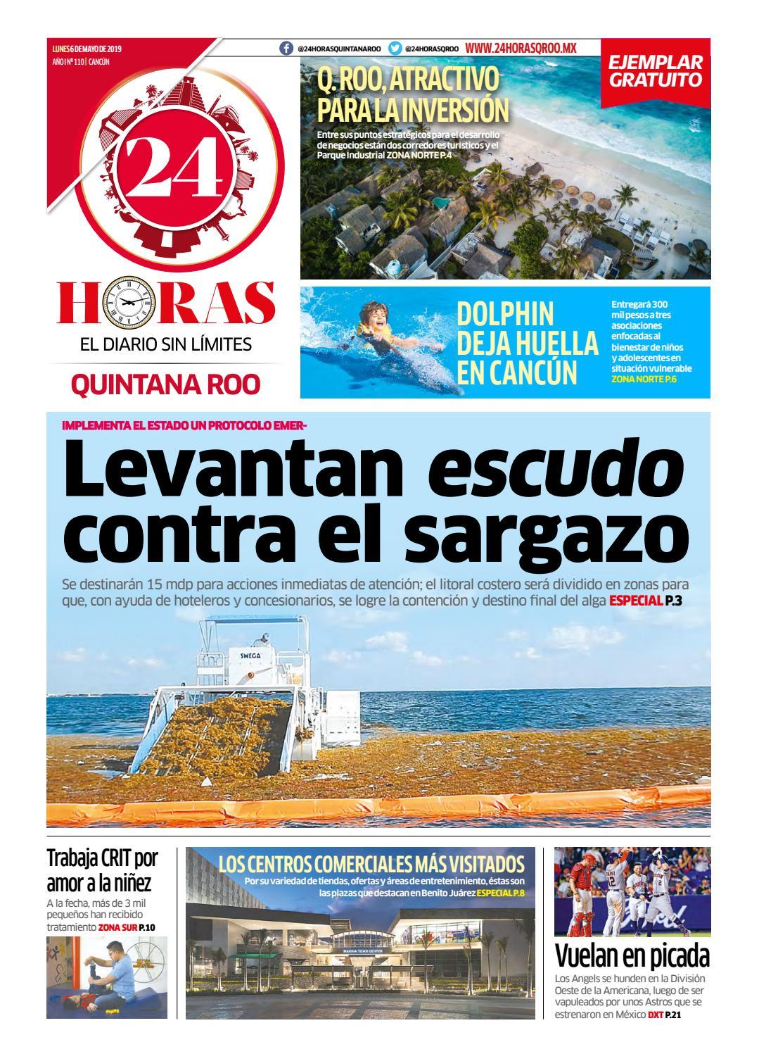 9cfc49c6dae 24 Horas Quintana Roo: 6 de Mayo 2019 by 24 Horas Quintana Roo - issuu