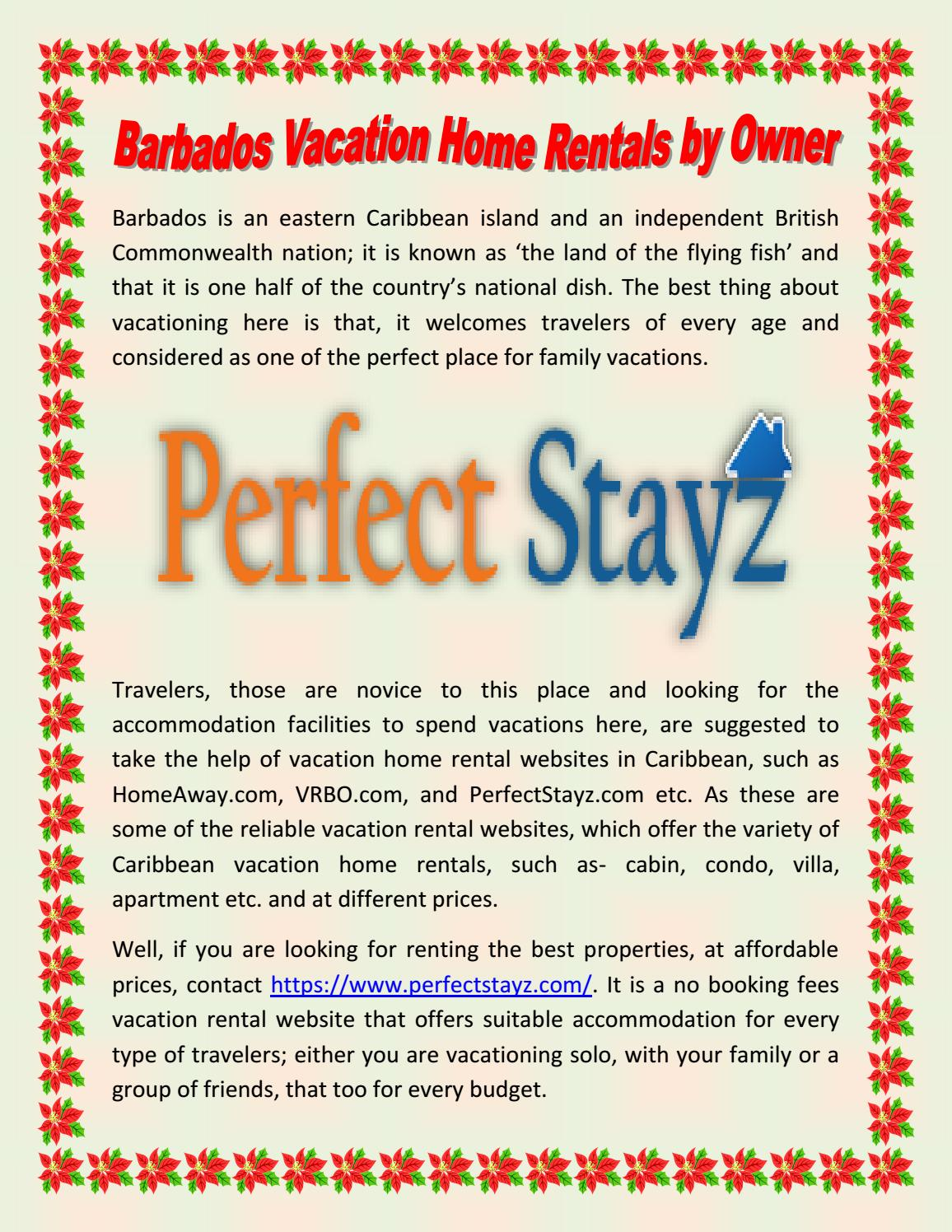 Barbados Vacation Home Rentals by Owner by Perfect Stayz - issuu