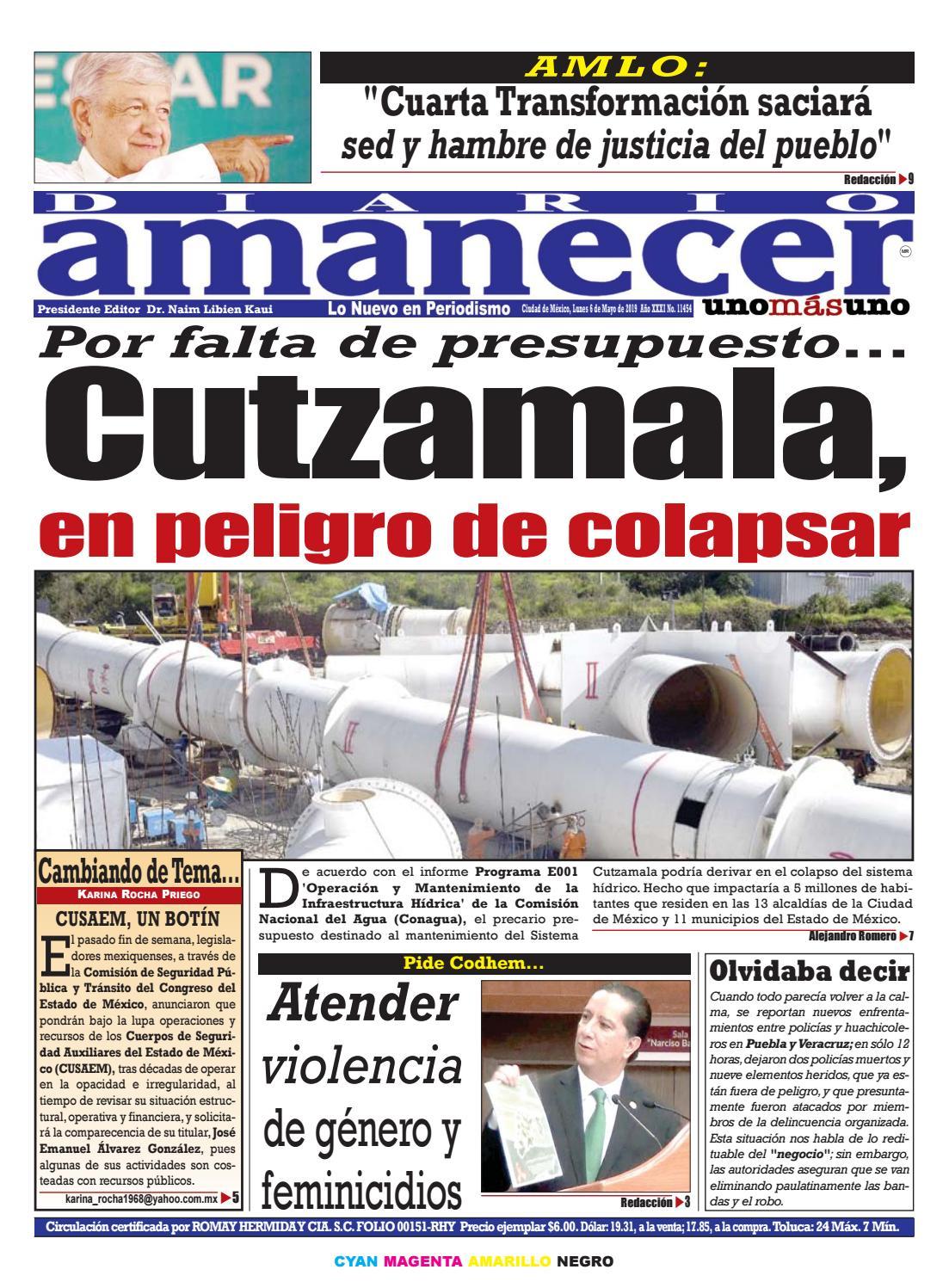 55ba5d152c MAYO 6 DE 2019 by Diario Amanecer - issuu