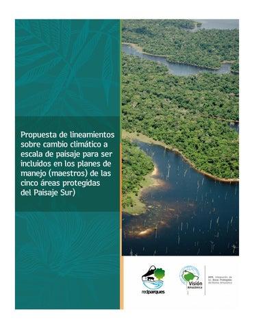 Propuesta De Lineamientos Sobre Cambio Climático A Escala De