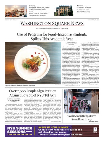 Washington Square News | March 6, 2019 by Washington Square News - issuu