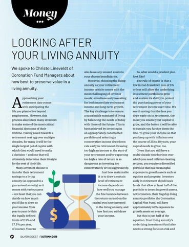 Page 34 of LOOKING AFTER YOUR LIVING ANNUITY