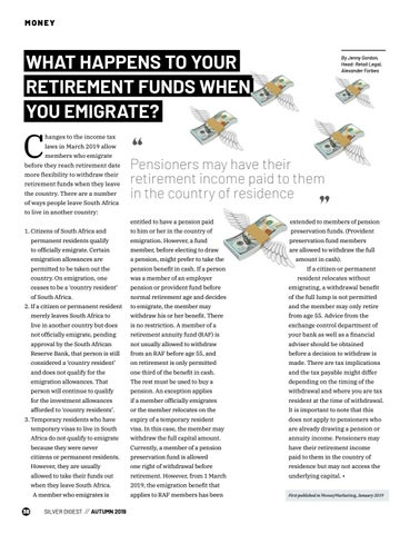 Page 38 of WHAT HAPPENS TO YOUR RETIREMENT FUNDS WHEN YOU EMIGRATE?