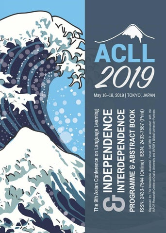 ACLL2019 | Official Conference Programme & Abstract Book by