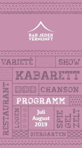 c9c356d0f6 Programmheft Juli-August 2019 | Bar jeder Vernunft Berlin by BAR ...