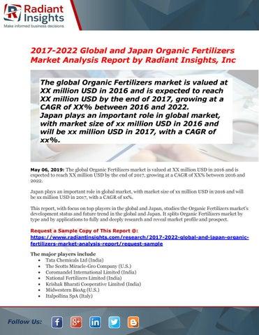 Global and Japan Organic Fertilizers Market Demands, Types