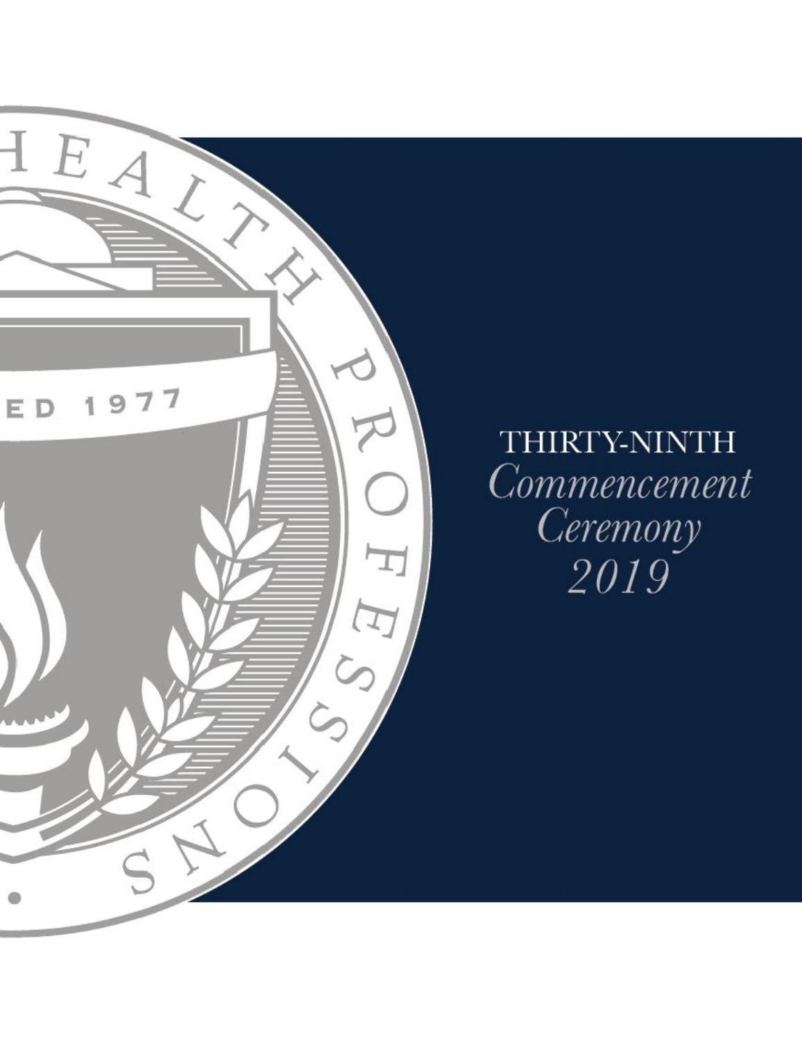 MGH Institute of Health Professions - 39th Commencement