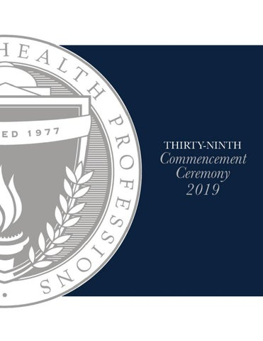 MGH Institute of Health Professions - 39th Commencement Program