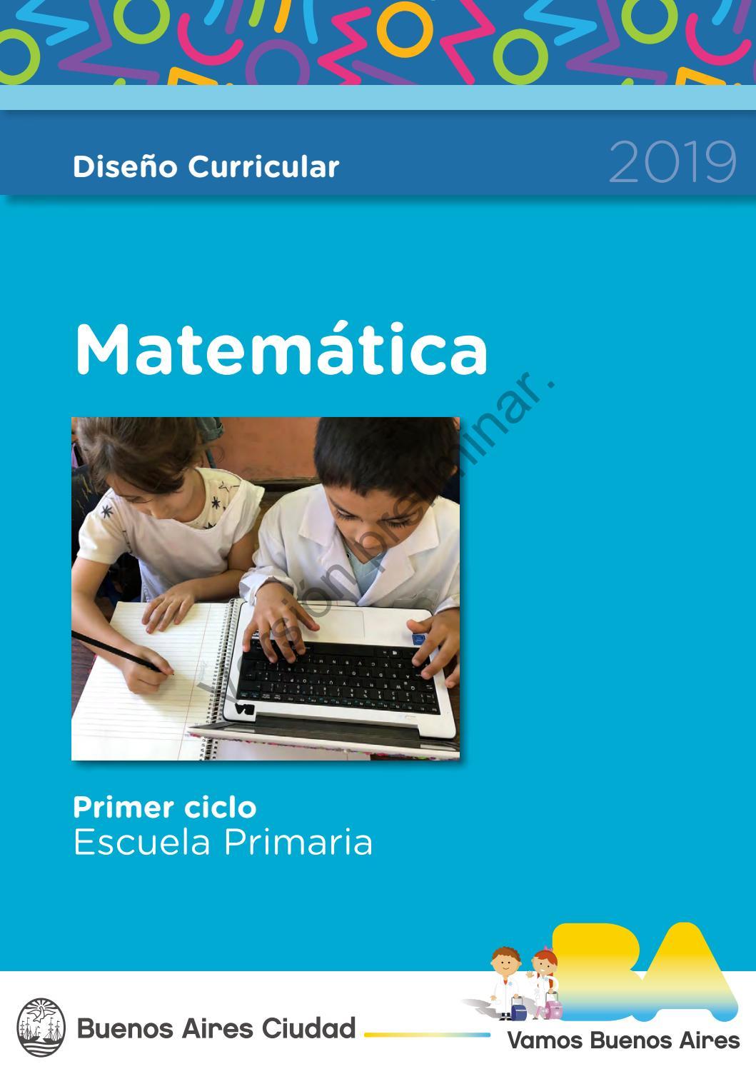 Diseño Curricular Matemática By Docentes De 10 Issuu