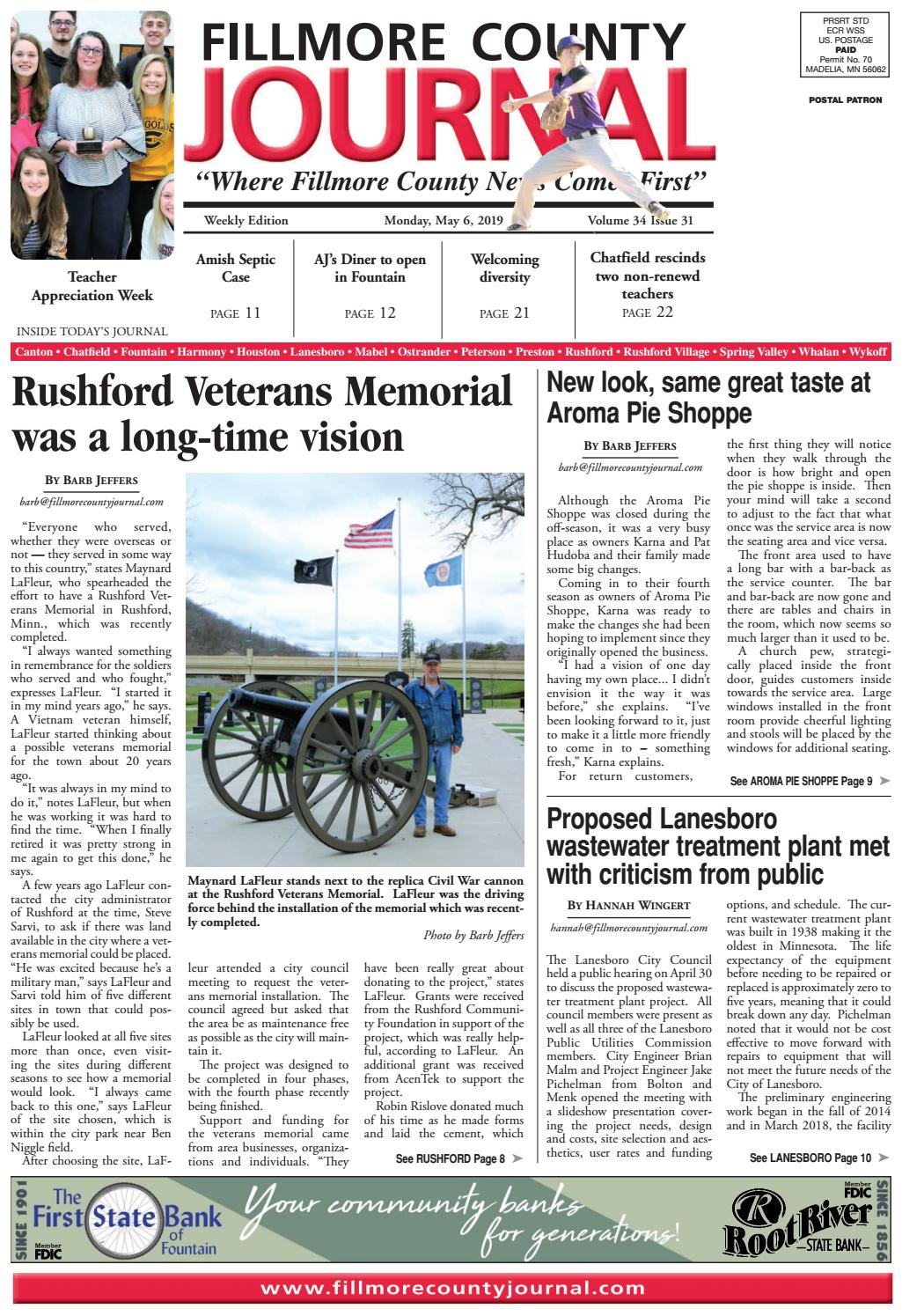 Fillmore County Journal - 5.6.19 by Jason Sethre - issuu on