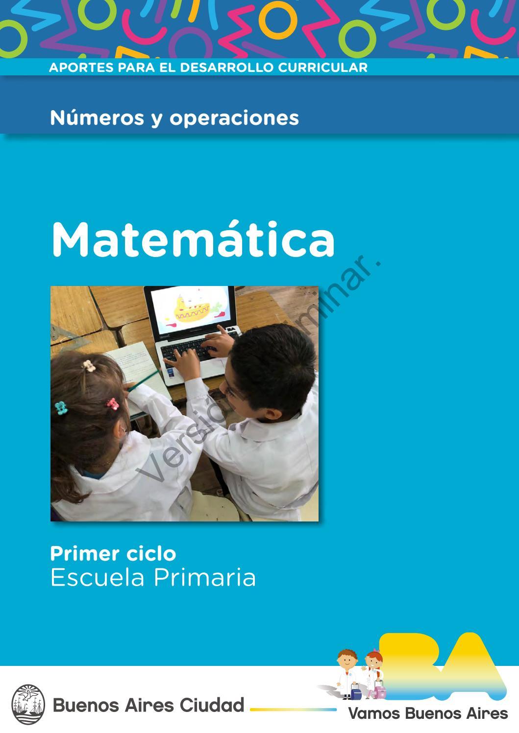 Como Se Escribe 91 En Numeros Romanos números y operaciones. matemática. primer ciclo.docentes