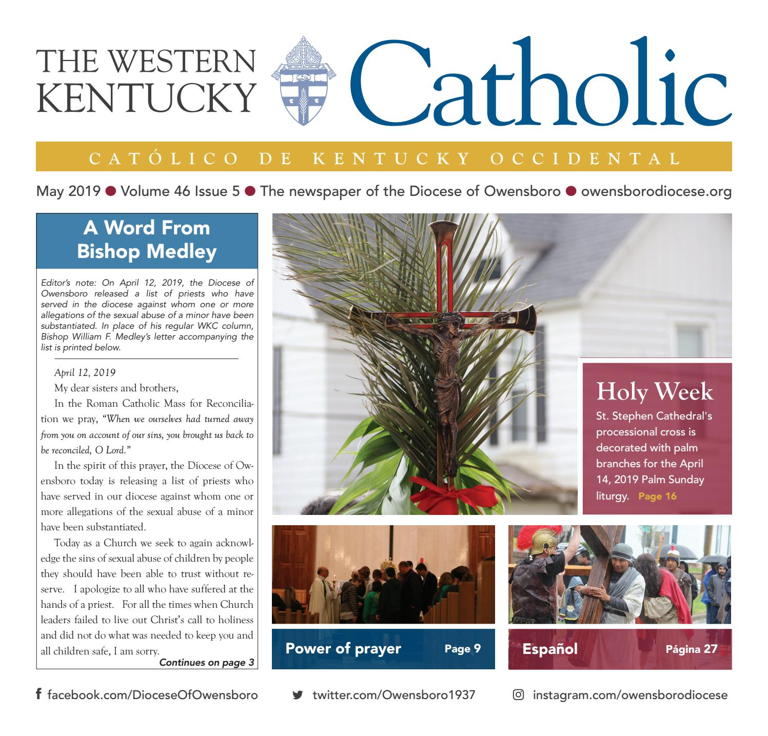 The Western Kentucky Catholic May 2019 by Diocese of Owensboro - issuu