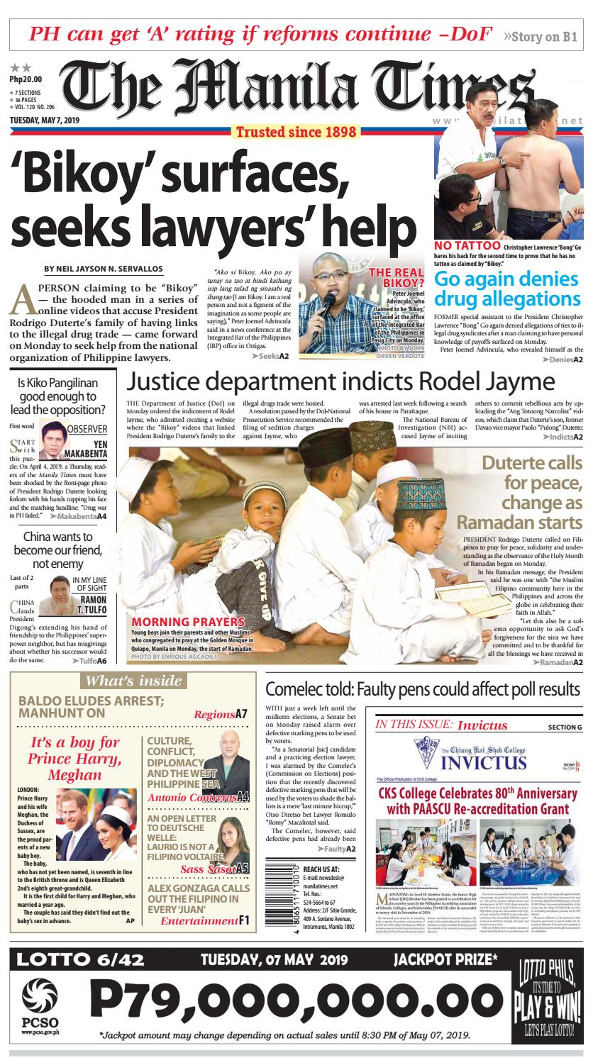 THE MANILA TIMES | MAY 07, 2019 by The Manila Times - issuu