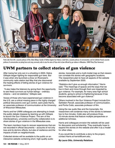 Page 12 of UWM Partners to collect stories of gun violence
