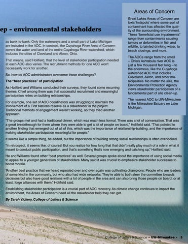 Page 5 of High stakes for the Great Lakes: Geographers explore how to find - and keep - environmental stakeholders