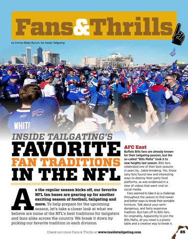 Page 25 of Favorite Fan Traditions in the NFL
