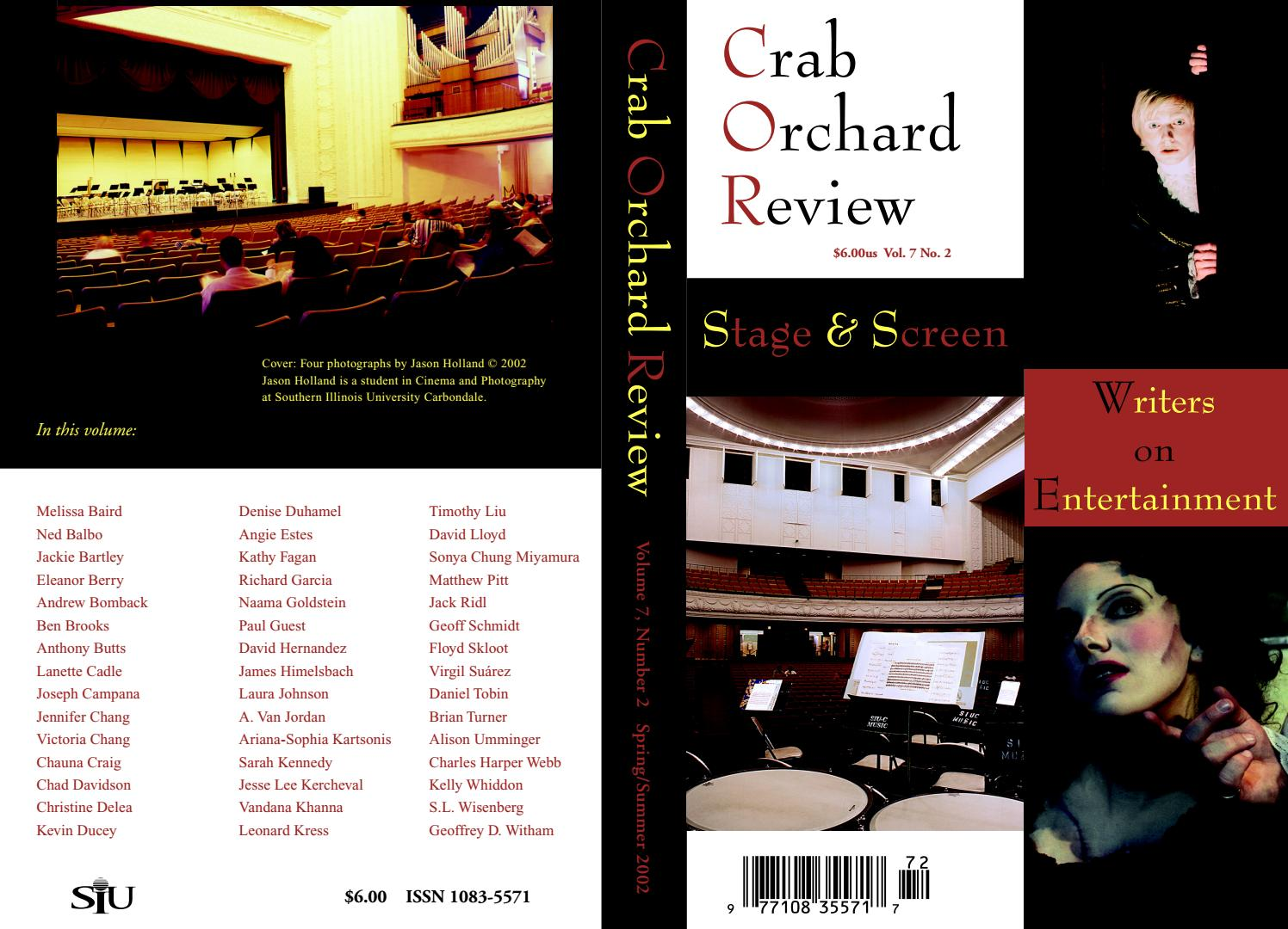 4b31f016e32 Crab Orchard Review Vol 7 No 2 S/S 2002 by Crab Orchard Review - issuu