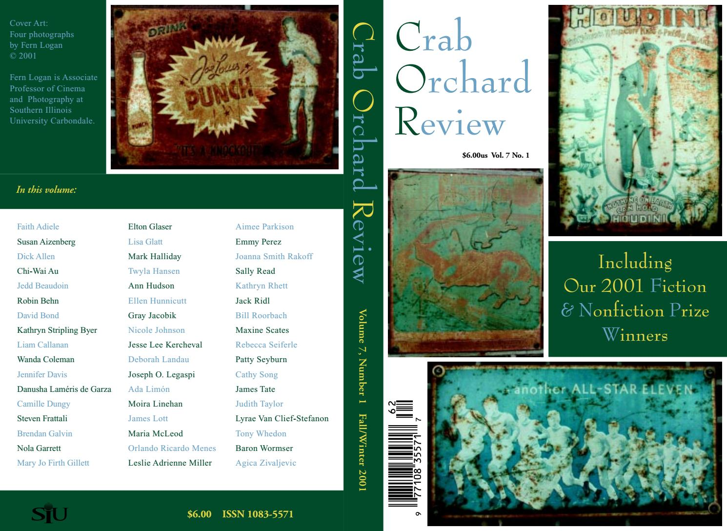 7368792e6 Crab Orchard Review Vol 7 No 1 F/W 2001 by Crab Orchard Review - issuu