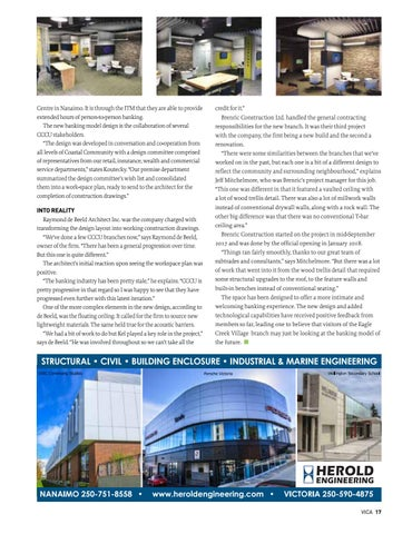 Page 17 of Ushering a new era of banking: Credit union launches new design