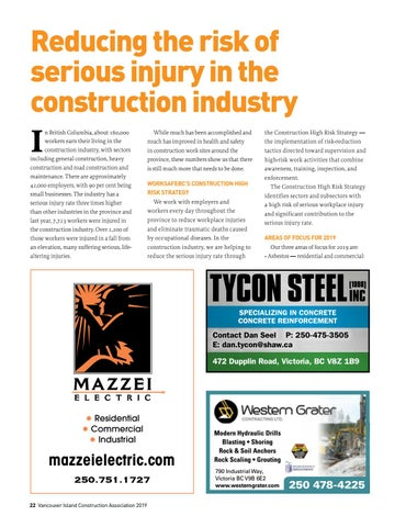 Page 22 of Reducing the risk of serious injury in the construction industry