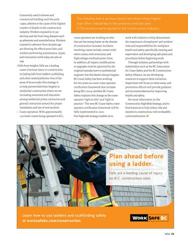 Page 23 of Reducing the risk of serious injury in the construction industry