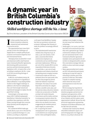 Page 44 of A dynamic year in British Columbia's construction industry: Skilled workforce shortage still the No. 1 issue