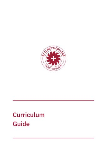 Curriculum Guide 2019 by St Clare's College Canberra - issuu