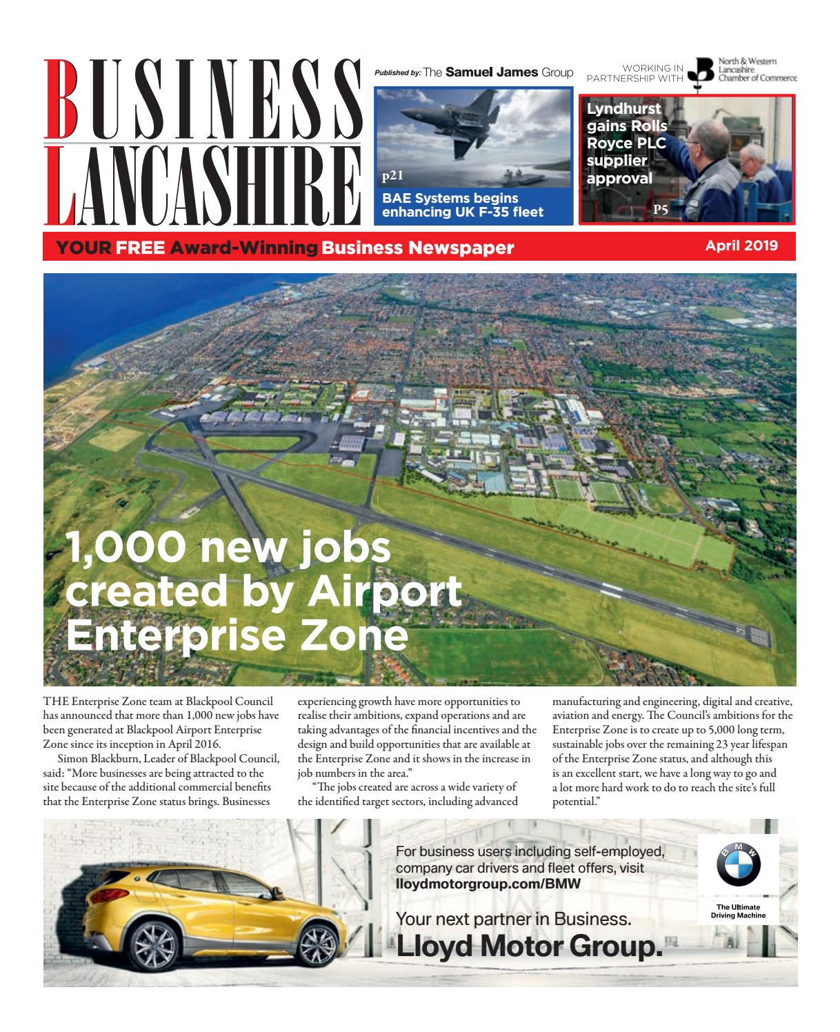 Business Lancashire April 2019 by The Samuel James Group - issuu