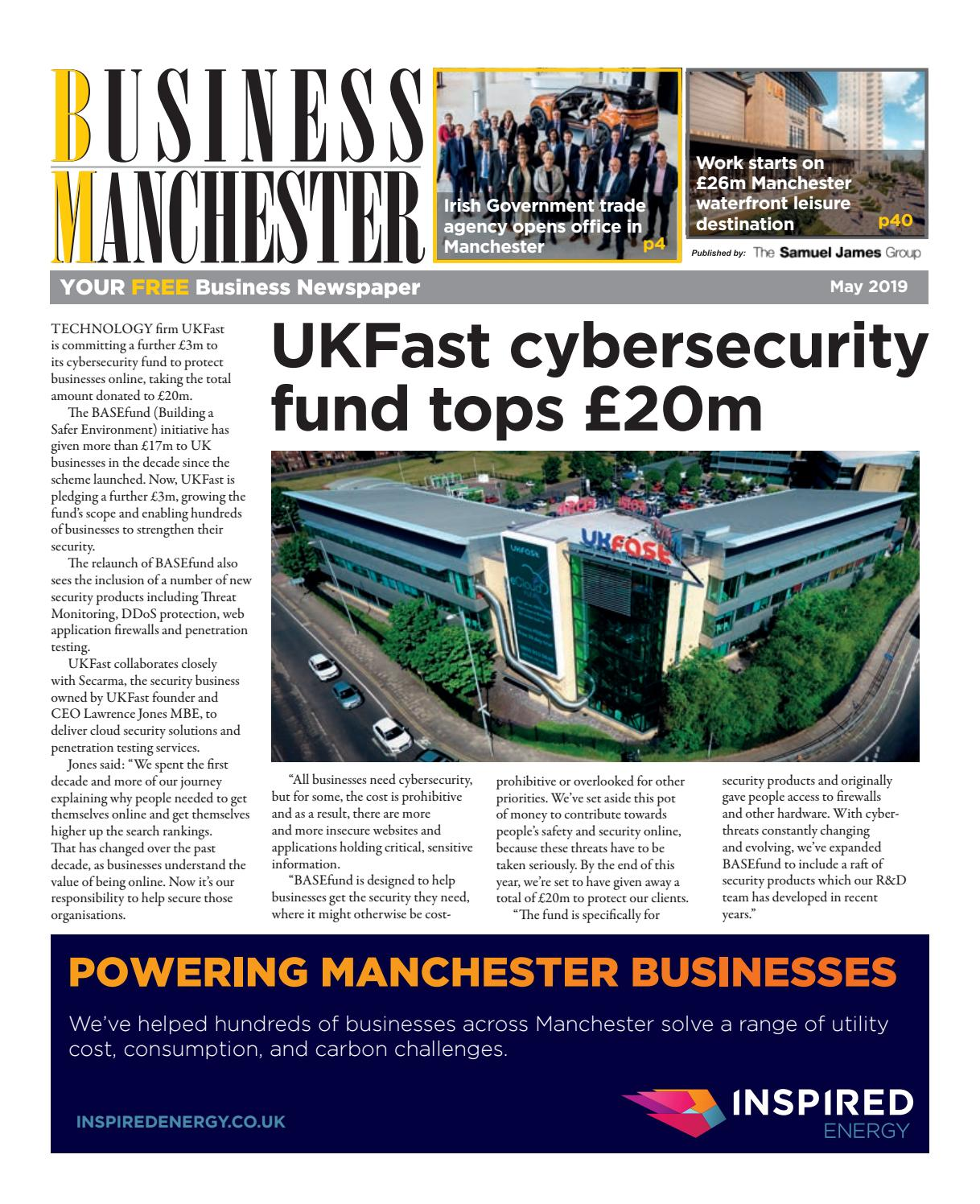 Business Manchester May 2019 by The Samuel James Group - issuu