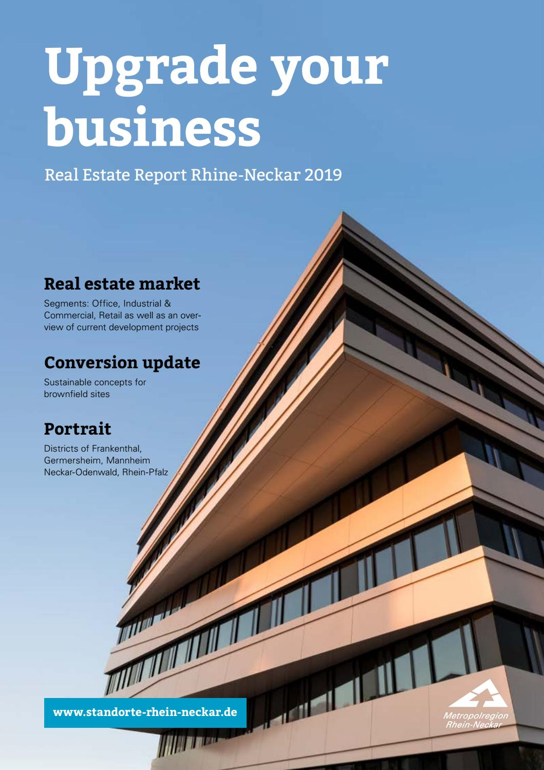 Real Estate Report Rhine Neckar 2019 By Rhein Neckar Issuu