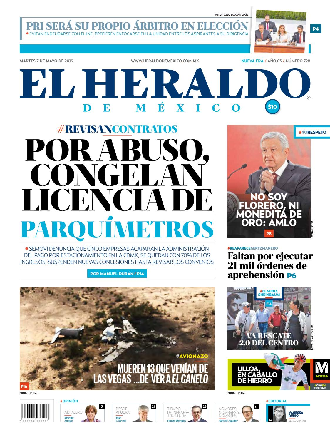 e1b7f171ff Martes 7 de mayo de 2019 by El Heraldo de México - issuu