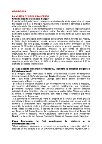 Calendario Ortodosso Santi.News Ccib 07 05 2019 By Camera Di Commercio Italiana In