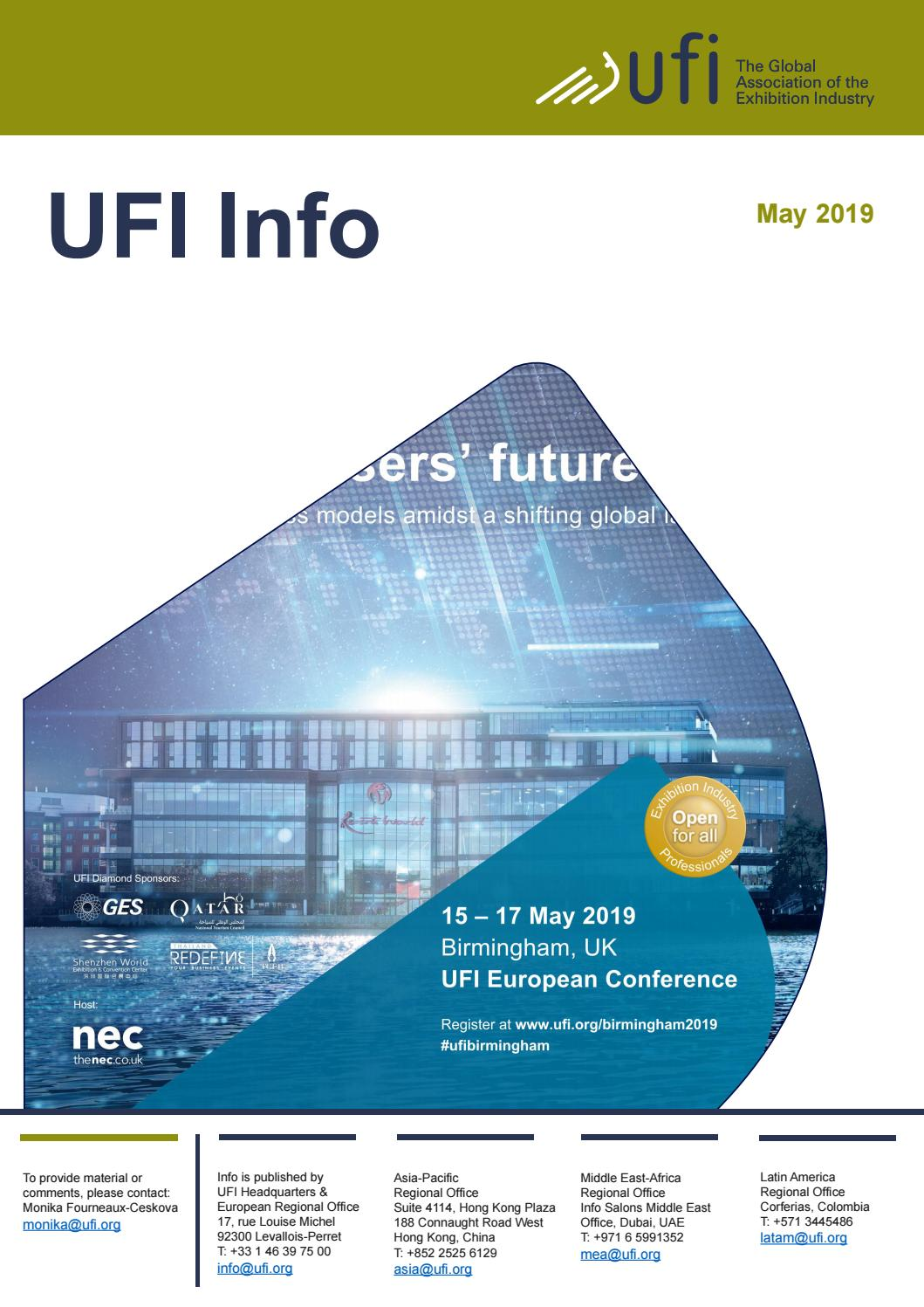 UFI Info - May 2019 by UFI, The Global Association of the