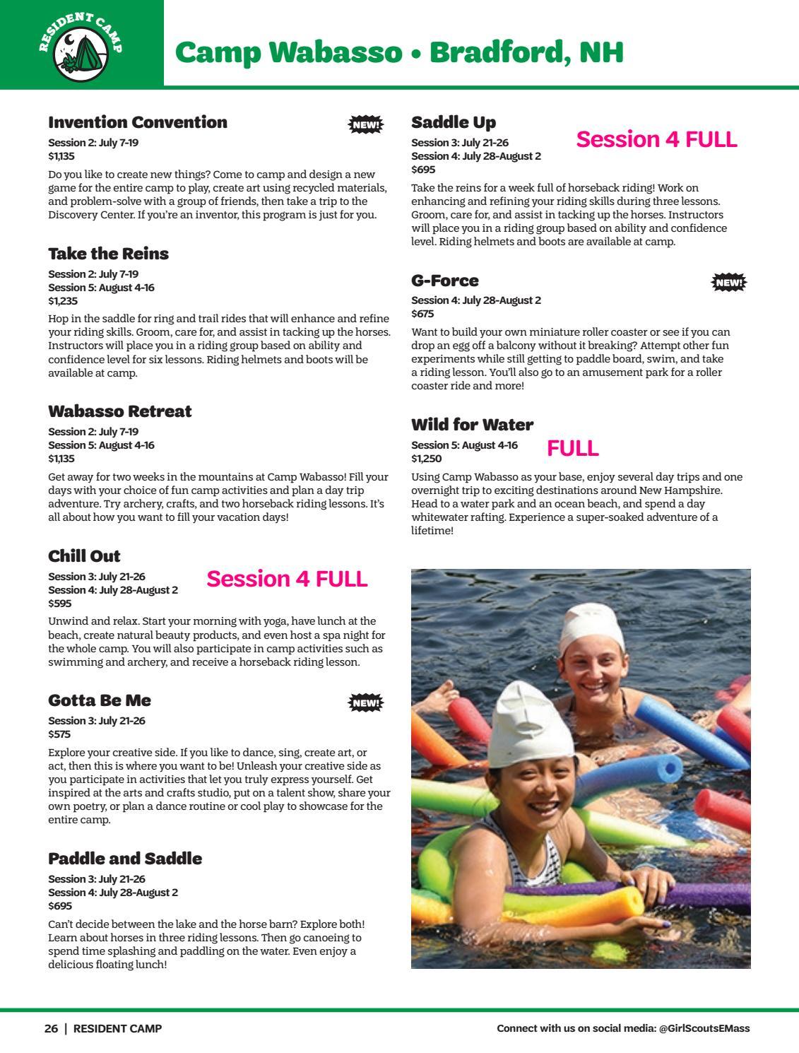 GSEMA | 2019 Camp Guide by girlscoutsemass - issuu