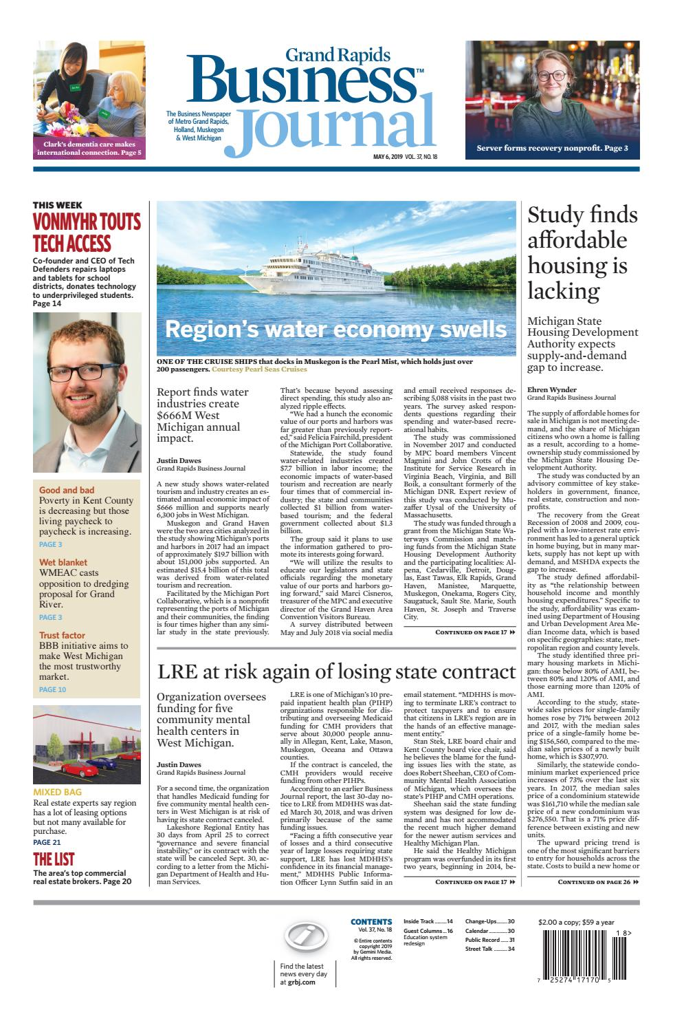 Recent Devos Hires Bode Ill For Student >> Grand Rapids Business Journal 05 06 19 By Grand Rapids Business