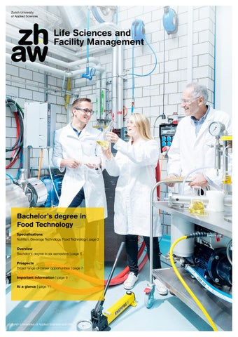 Bachelor's degree in Food Technology by ZHAW - Life Science and