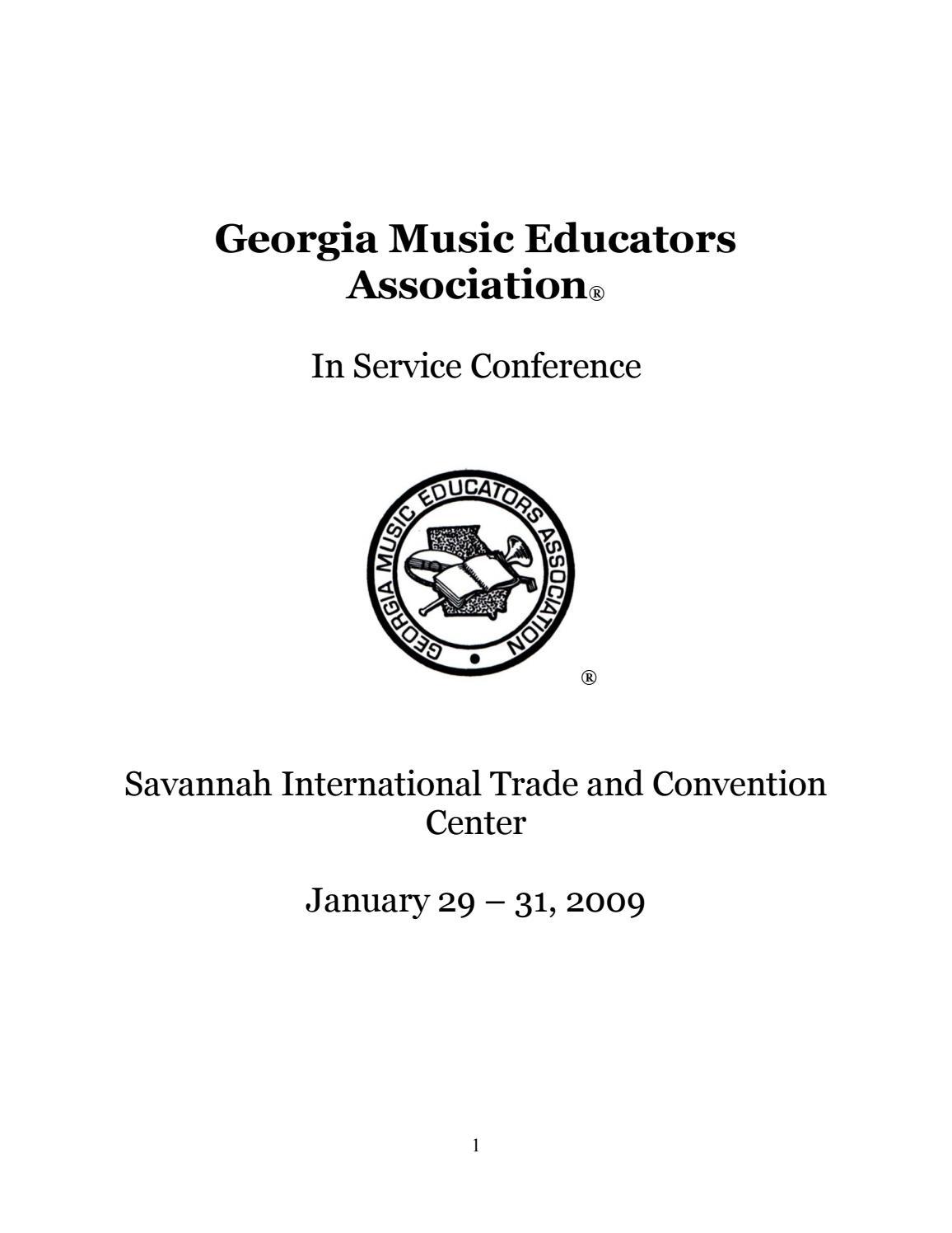 2009 GMEA In-Service Conference Program by Georgia Music