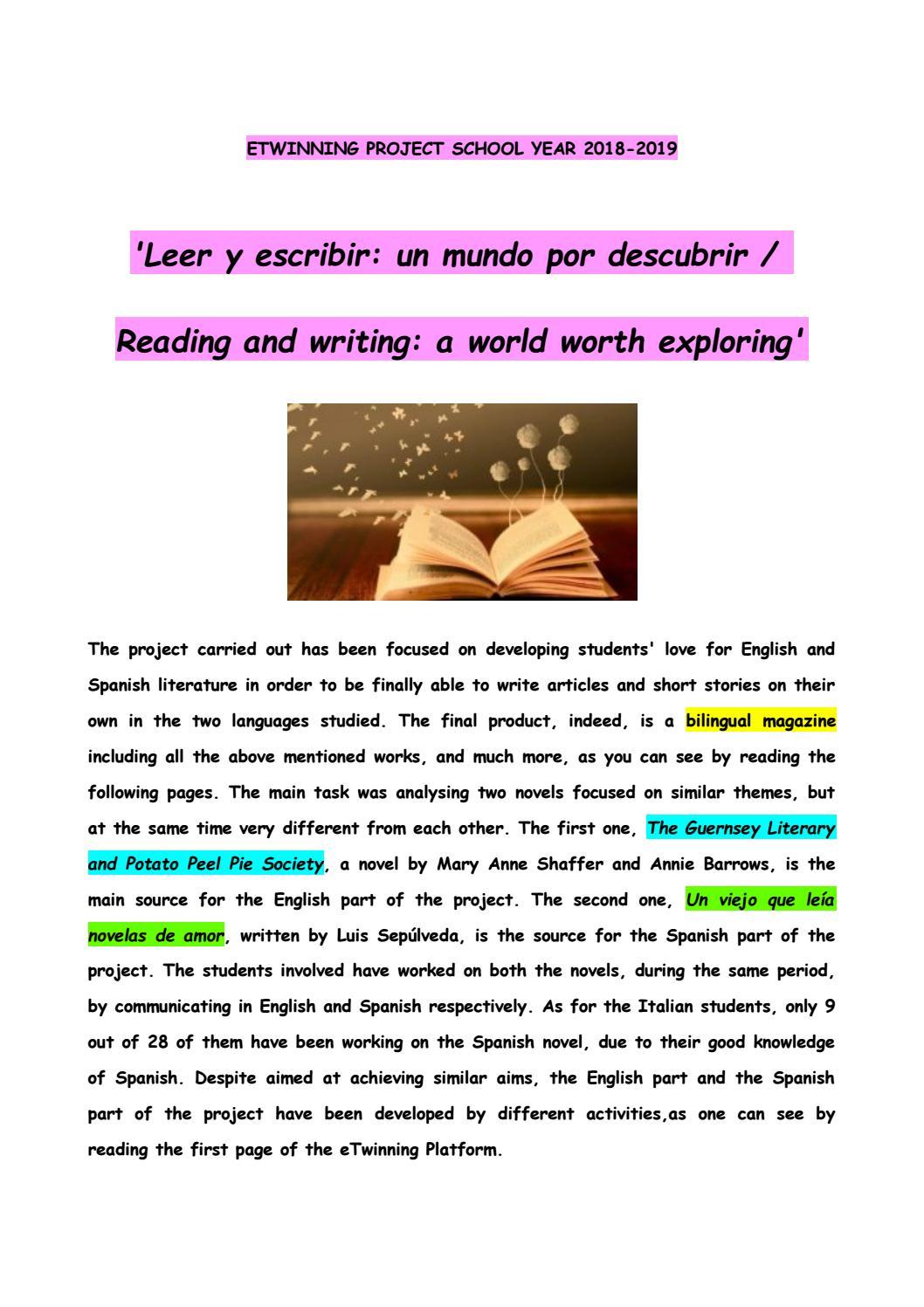 Leer Y Escribir Un Mundo Por Descubrir Reading And