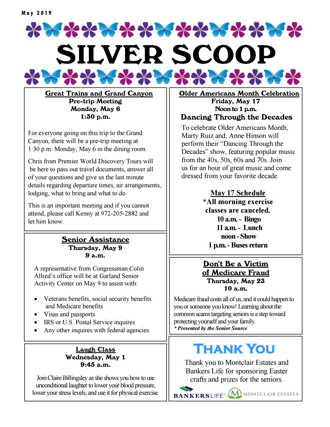 Silver Scoop May 2019 by City of Garland, Texas - issuu